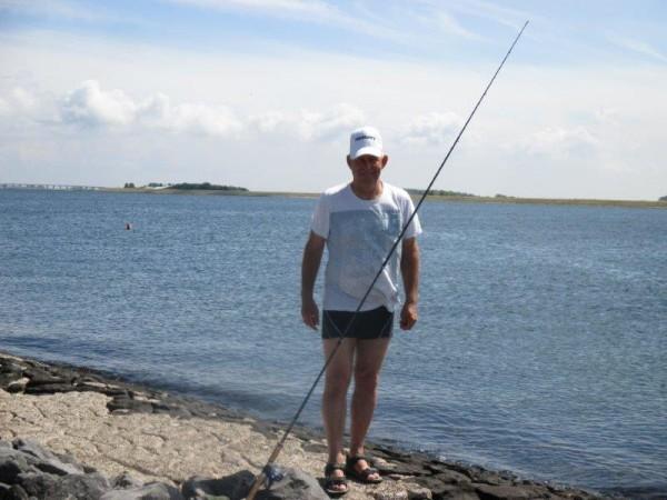 Jan en Nico, vissen aan Bruinisse