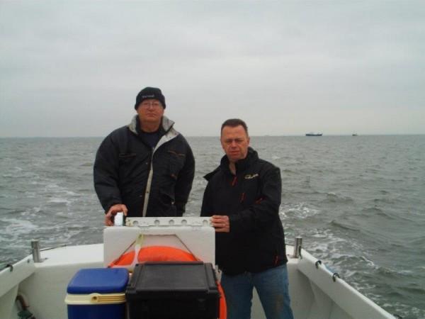 Vissen op de Oosterschelde, met huurboot, Dixhoorn