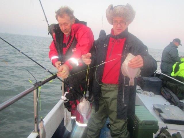 Vissen op schar en wijting op de Westerschelde