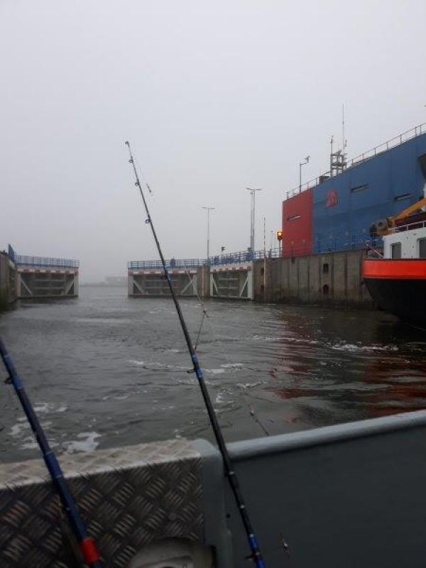 Eldert, vissen met Wiesje, Westerschelde