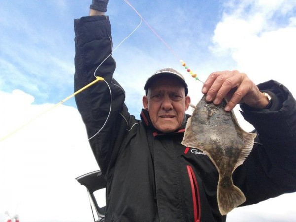 Vanaf de kant vissen in Denemarken
