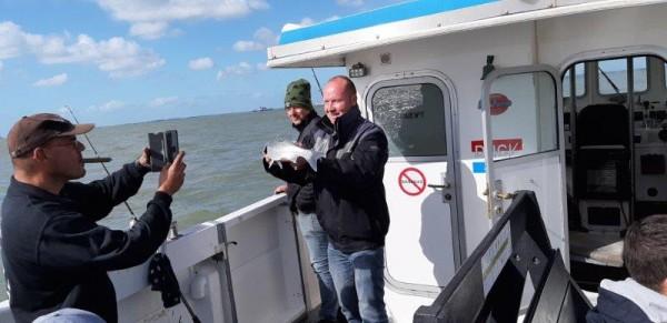 Eldert, boot vissen vanaf de Westerschelde