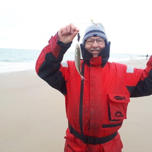 Nico, vissen aan Zoutelande