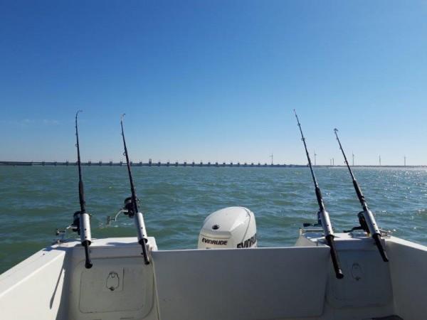 Tom en Niels, vissen in de Voordelta