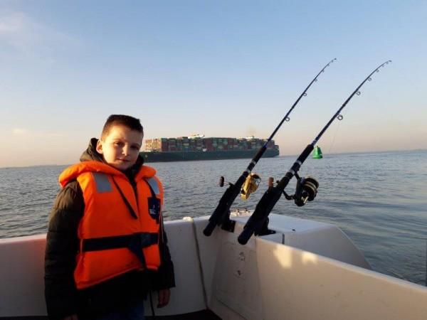Tom, bootvissen Westerschelde
