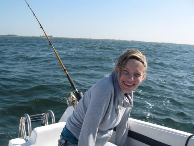 Bootvissen met Romy