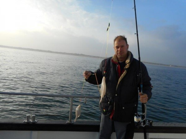 Ankervissen met de Marie Louise, in de Voordelta
