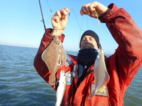 Wat een vis, in de Voordelta!