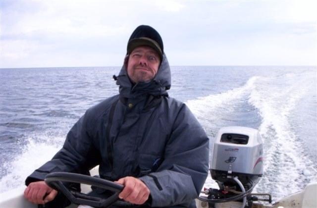 Zeeforelvissen op eiland Funen(Denemarken)