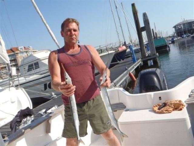 Op de makreel met Simon