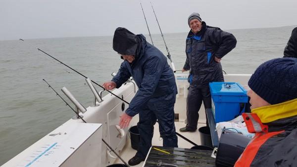 Anker visserij Westerschelde, met de Waypoint