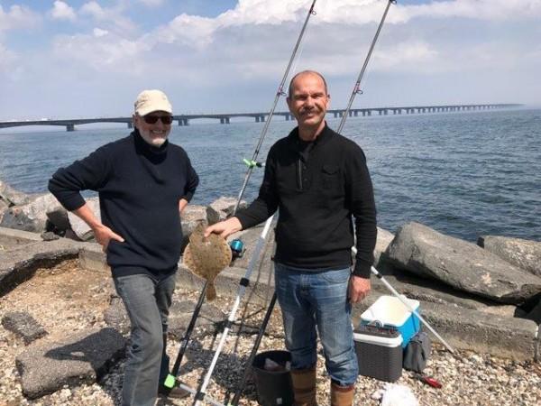 Martien en maat, vissen rond Nyborg