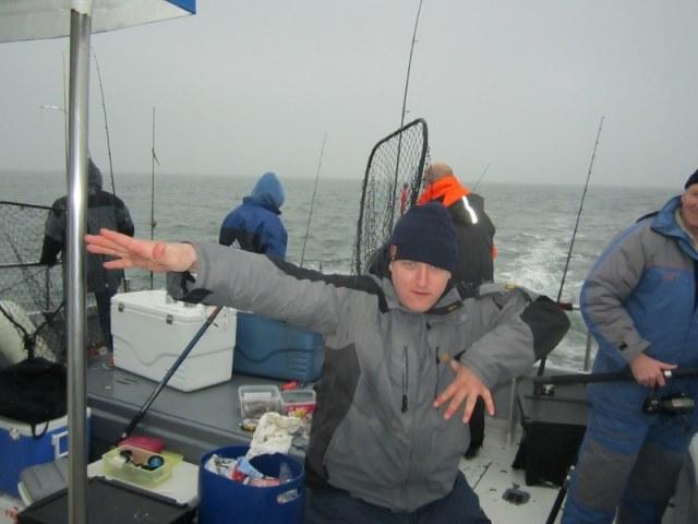 Maup en vrienden, wrakvissen met De Happy Fisherman.
