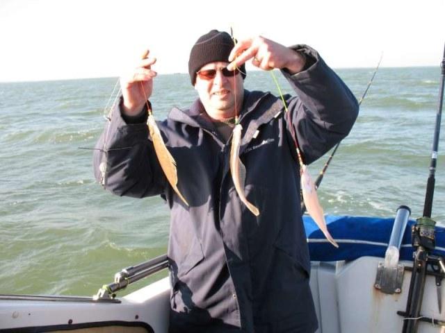 Vissen op schar in de Oosterschelde