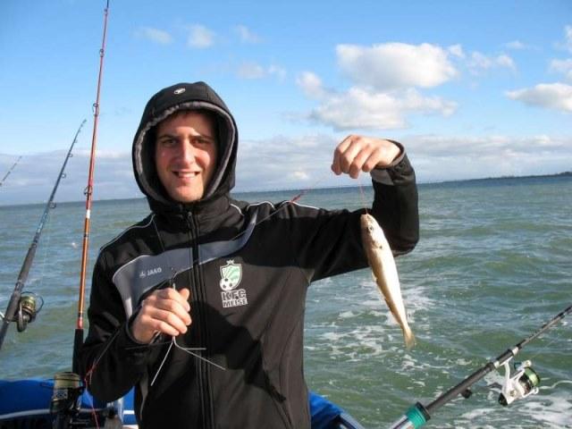 Vissen op de Oosterschelde, Luc en Gregory