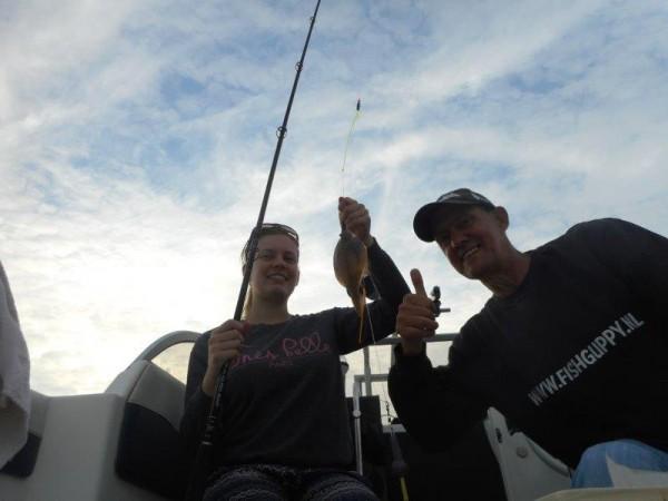 Avondsessie tongvissen, Voor delta, 2 keer