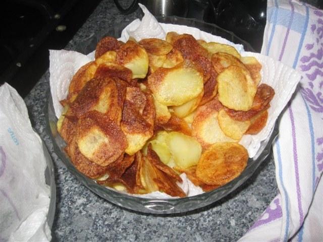 Kibbeling met chips