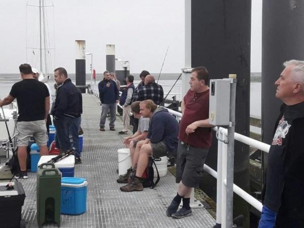 Alain Tulleneers, vissen op Makreel, met Mijntje Yvonne