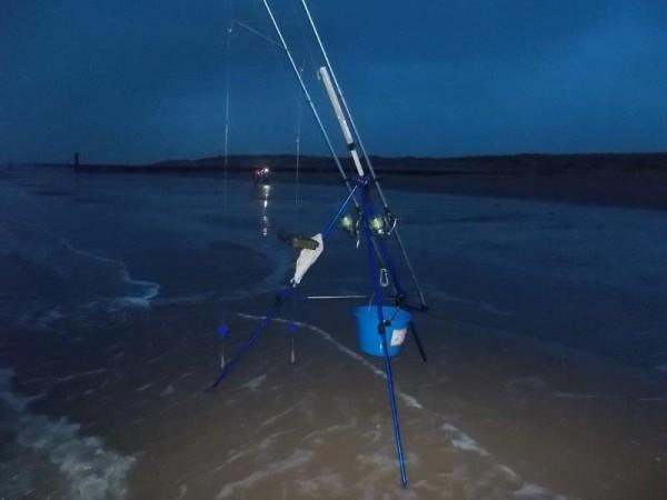 Jack Peelman, marathon vissen aan het Nollestrand