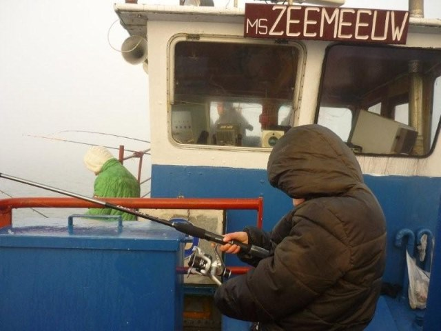 Johan het(loze)vissertje en zoon op de Grevelingen