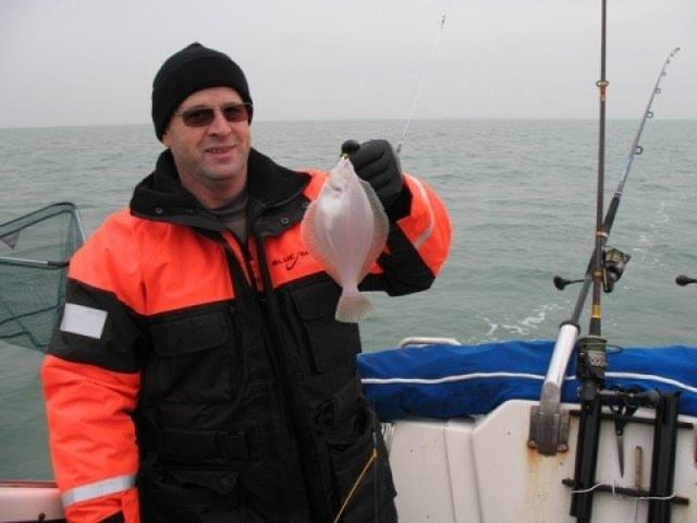 Op Schar vissen, in de Oosterschelde, Lucky Luc