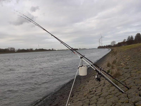 Stefan, vissen aan de Waterweg